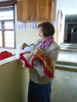 Cathy and baby and orphanage